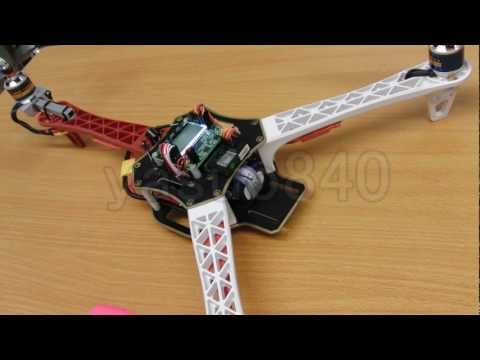 Tricopter KK2.0 FW V1.0 LCD Control Board with Q450 Remodeling Vol.30 Test flight