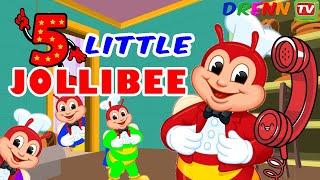 Jollibee Five Little Monkeys Jumping on the Bed Nursery Rhymes