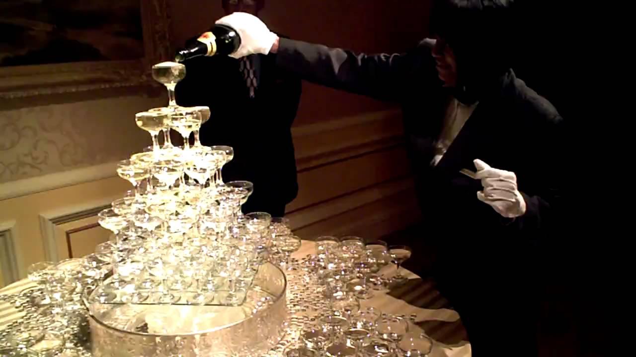 Kim Amp Ryan S Champagne Tower Youtube
