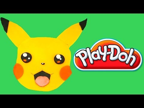Play-Doh Pikachu How to make Playdough Pikachu Pokemon ポケモン