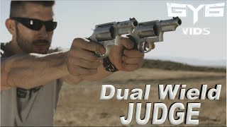 Dual Wielding JUDGE Revolvers in Slow Motion