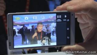 Sony Xperia Z vs Xperia ZL Demo at CES 2013 (Android)