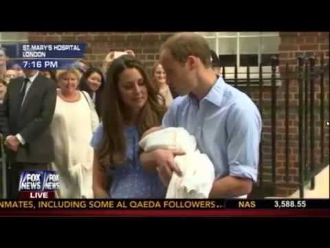 Kate Middleton Royal Baby FIRST APPEARANCE! Prince Williams and Kate Middleton Leave Hospital