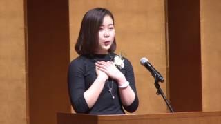 【第6回 全日本留学生 日本語スピーチコンテスト】敢闘賞:王 珏さん