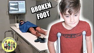 KID BREAKS his ANKLE playing SOCCER | A DOCTOR says his FOOT is BROKEN | KIDS FIRST BROKEN BONE