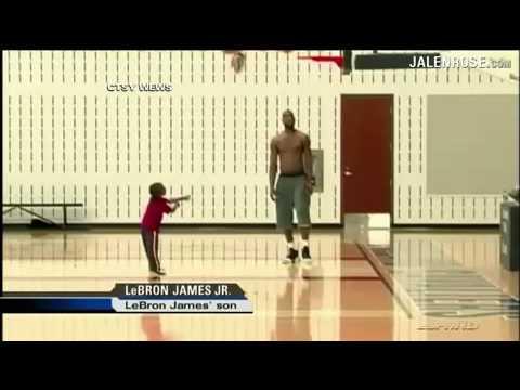 4 year-old LeBron James Jr.