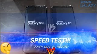 Samsung Galaxy A8+ 2018 Vs Galaxy S8+ Speed Test!
