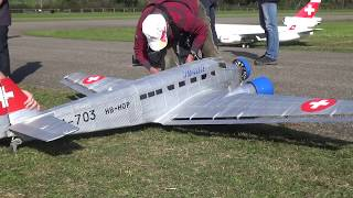 JU-52 JU AIR SWISS RC SCALE AIRPLANE WITH 3x ENGINE