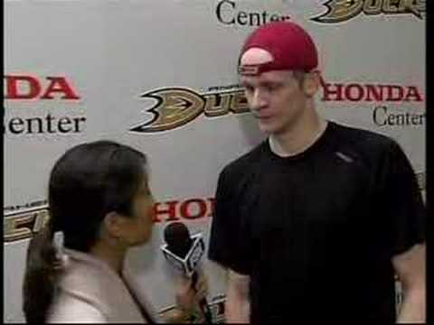 Anaheim Ducks - Corey Perry Interview 1/7_08