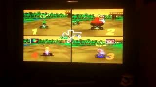 Raspberry pi 3 n64 007 and mario kart multiplayer speed test