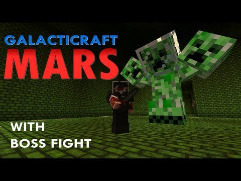 Minecraft: Galacticraft - Mars and dungeon boss (playtest)