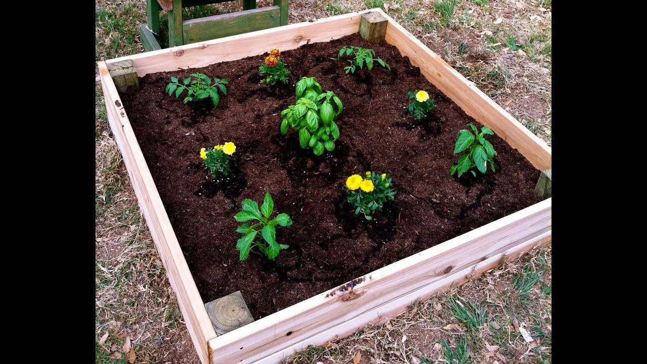 Raised Garden Planter Box How To Youtube