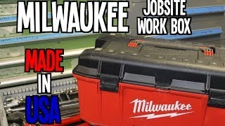 "Milwaukee 26"" Jobsite Work Box - MADE IN USA"