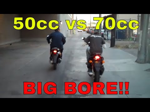 49cc to 70cc performance big bore kit for 2-stroke scooters
