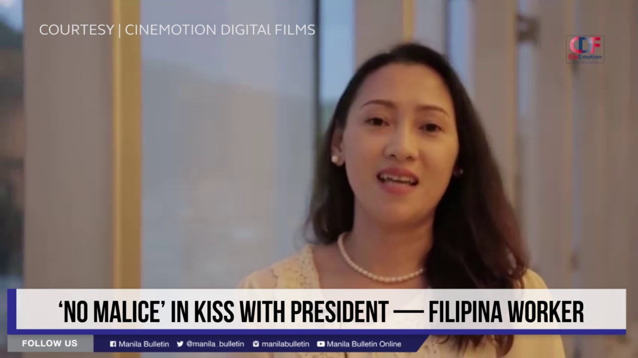 'No malice' in kiss with President — Filipina worker