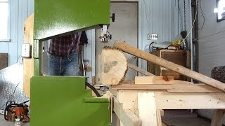 Bandsaw-on-a-dolly sawmill improvements