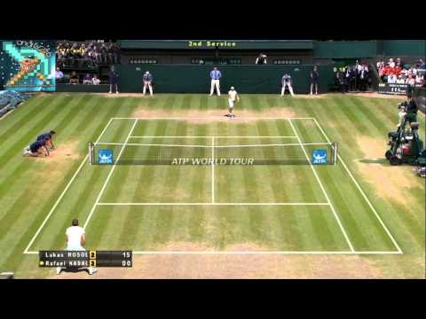 Tennis Elbow 2011 | Rosol vs Nadal | Ace, ace, ace...