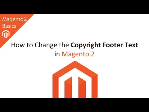 Change Copyright Footer Text in Magento 2