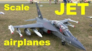 Scale jet airplanes demonstration and go around, Jets over Czech 2017