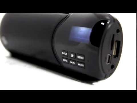 Caixa de Som Portatil MP3 Blue Ice 4 em 1 - Multilaser - SP121 (preto) e SP126 (pink)