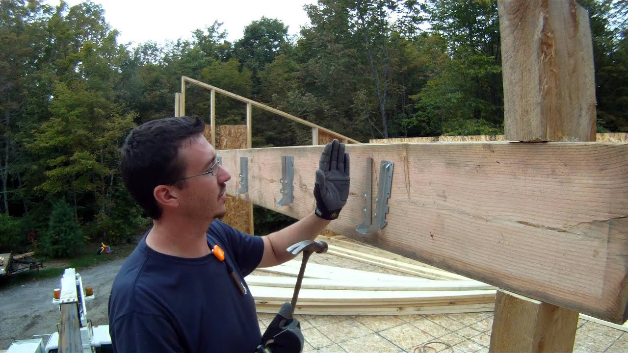 How To Install A Joist Hanger 43 My Garage Build Hd