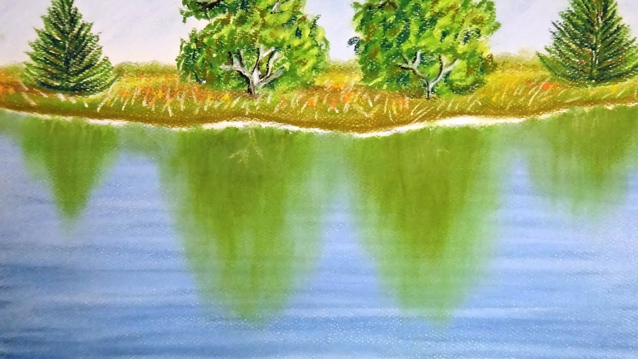 Water Green Nature Painting