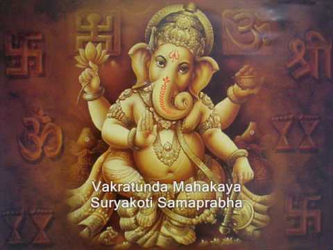 Lord Ganesh Sloka (Vakratunda Mahakaya)