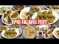 Epic Falafel Fest at Home! Baked Falafel, Hummus & Pita Bread Making Video Recipe | Bhavna's Kitchen