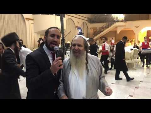 איציק אשל עם הרב שלום הרוש שמחת חתונה של בנו   2018 itsik eshel נדיר !!!