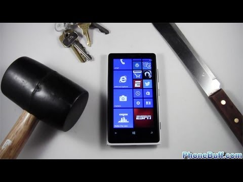 Nokia Lumia 920 Hammer & Knife Scratch Test