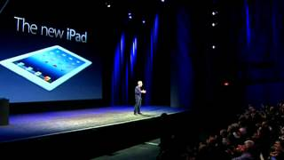 The new iPad_ Tim Cook and Philip Schiller unveil the device