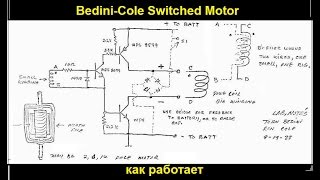 Bedini-Cole Switched Motor - как работает