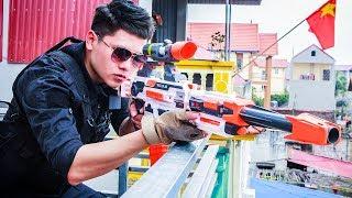 LTT Gaming Nerf Guns : SEAL X with nerf guns skills attack Criminal Group