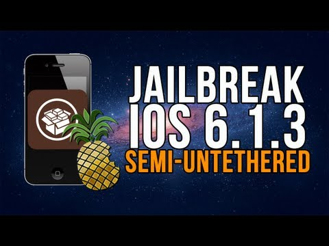 FÁCIL Jailbreak SEMI-UNTETHERED iOS 6.1.3 / 6.1.5 iPhone 3gs, 4, iPod Touch 4g | Español
