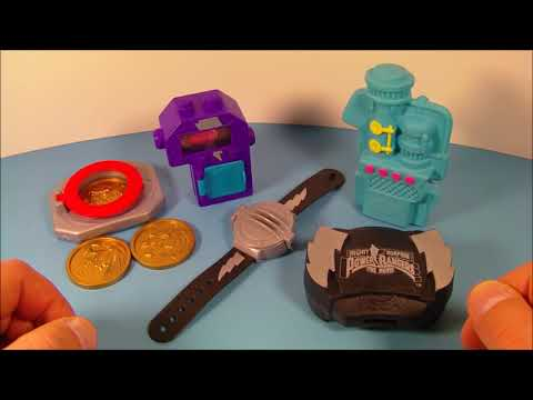 1994 MIGHTY MORPHIN POWER RANGERS THE MOVIE SET OF 5 McDONALD'S HAPPY MEAL MOVIE TOY'S VIDEO REVIEW