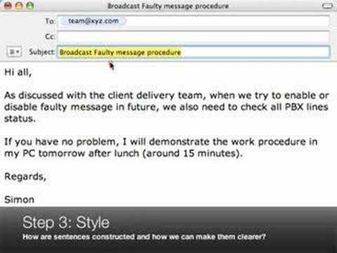 ESL Business Writing Video - Email Tune-up 01