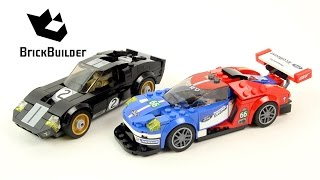 Lego Speed Champions 75881 2016 Ford GT & 1966 Ford GT40 - Lego Speed build