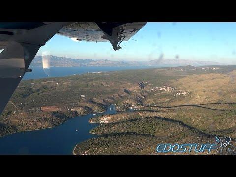 European Coastal Airlines DHC-6-300 - Full Flight - Jelsa to Resnik FULL HD