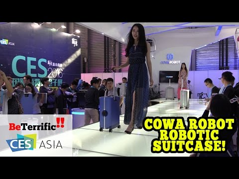 COWA ROBOT Robotic Suitcase at CES Asia 2016!