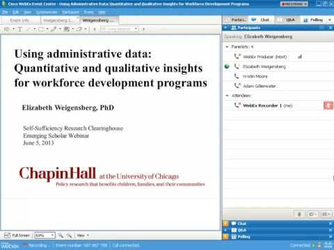 Using Administrative Data: Quantitative and Qualitative Insights for Workforce Development Programs