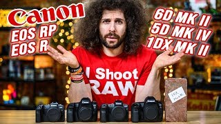 Which CANON Camera Should You Buy? 1DX Mark II, 5D Mark IV, EOS R, 6D Mark II, EOS RP