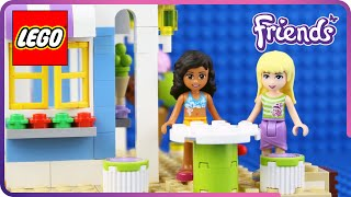 ♥ LEGO Friends Hawaiian Ice Cream Shop Grand Opening STOP-MOTION