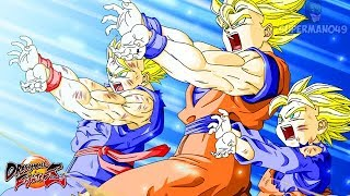 FAMILY KAMEHAMEHA ULTIMATE FINISH! - Dragon Ball FighterZ: Adult Gohan, Goku & Vegeta Gameplay