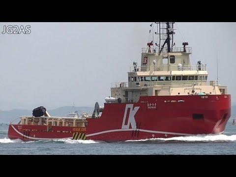 あかつき AKATSUKI オフショア船 Offshore tug オフショア・ジャパン 関門海峡 2016-MAY