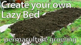 Build a Lazy Bed for Growing Food (No Dig Permaculture Raised Bed)