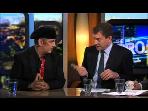 Boy George on The Project - 12 Oct 12
