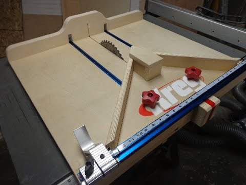 Table Saw/Crosscut Sled with Extras - Nick Ferry Design