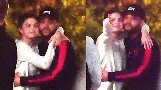 Selena and The Weeknd at Disneyland