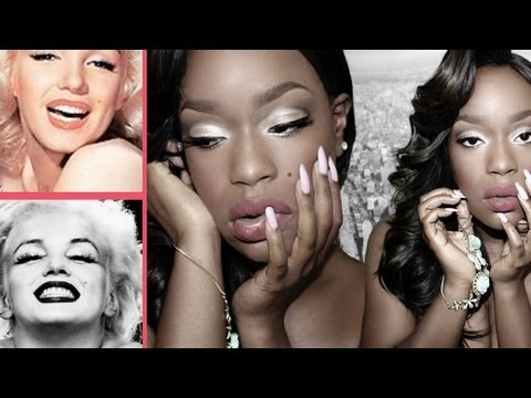Black Marilyn Monroe Makeup & Hair