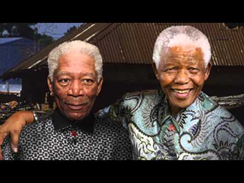 Nelson Mandela confused with actor Morgan Freeman on KQED Forum...
